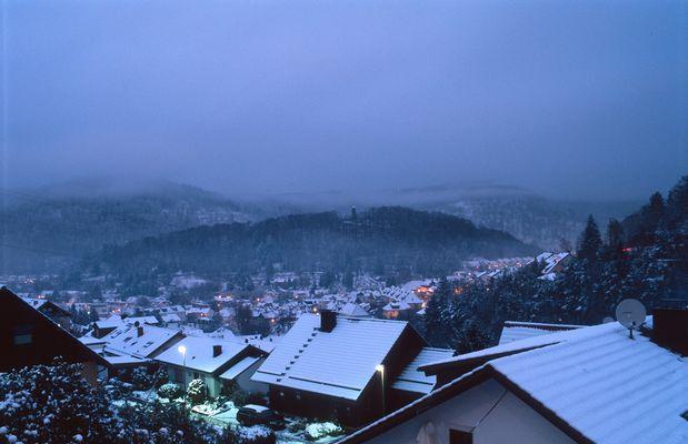 Eberbach an einem Winterabend