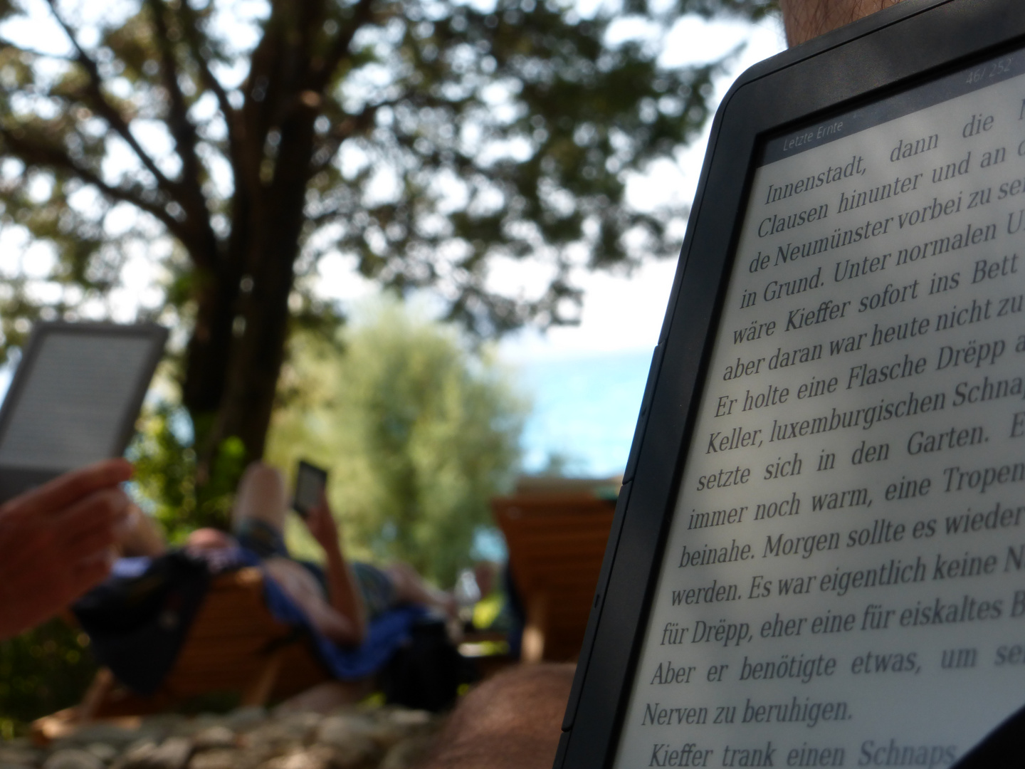 eBook Reader im Alltagsbild