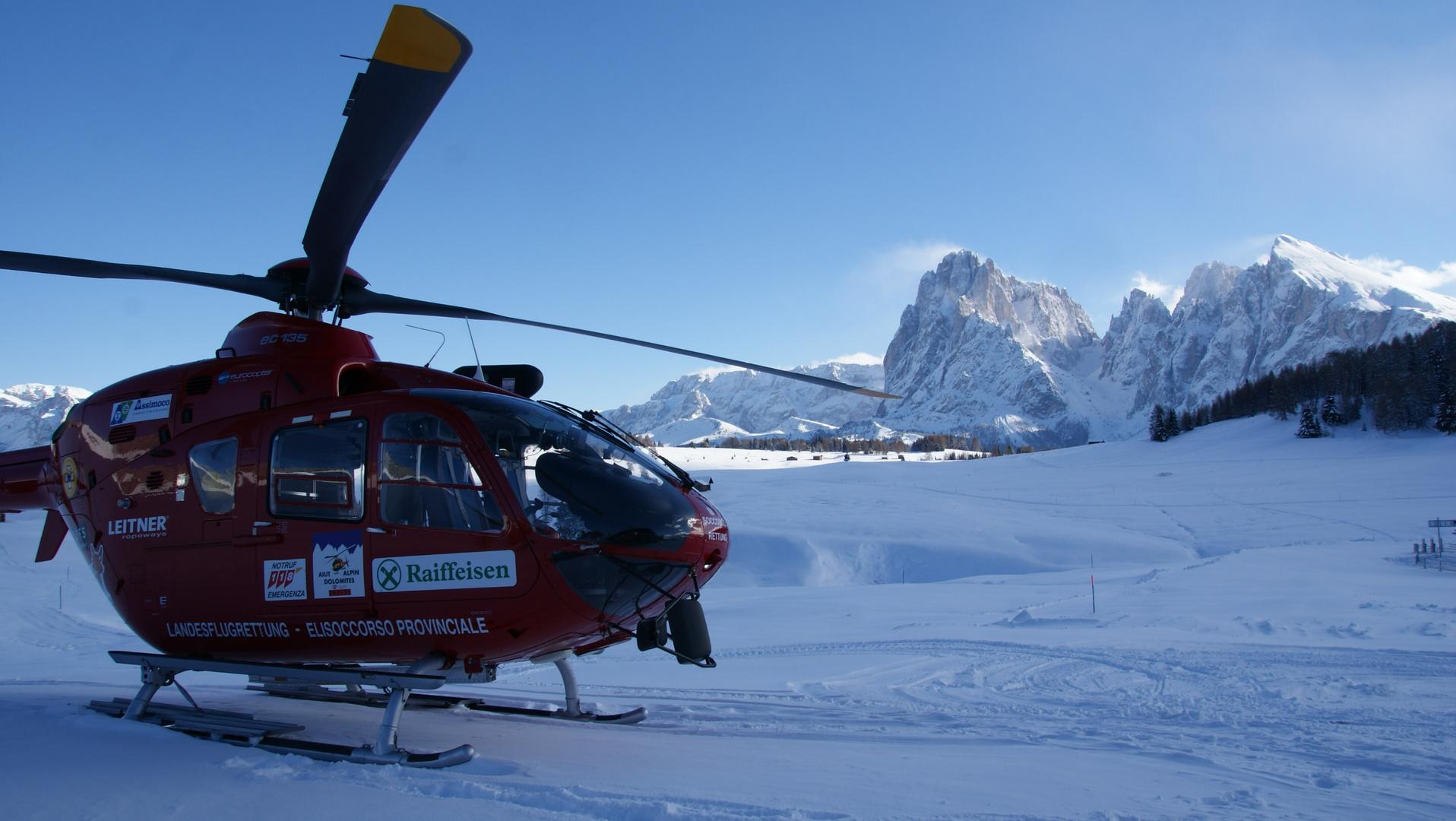 Ec135T2i, Aiut Alpin Dolomites, Flugrettung Dolomiten, Seiser Alm