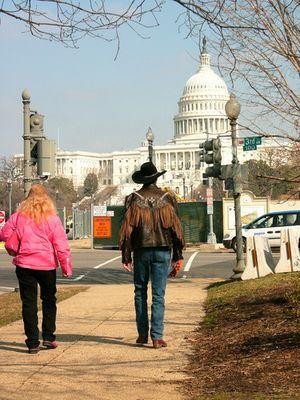 Echter Cowboy mit Cowgirl