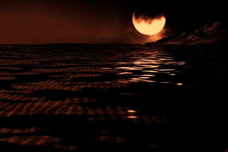 ecipse de lune en baie d' authie