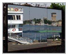 Eckblick auf den Nil ...