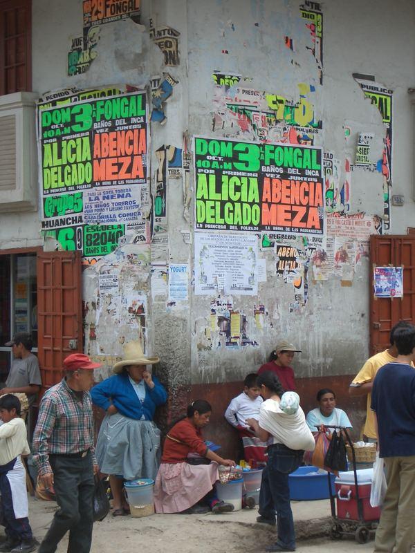 ecke am zentralmarkt in cajamarca