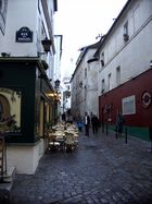 Ecke Rue des Saules-Rue Norvins am Montmartre