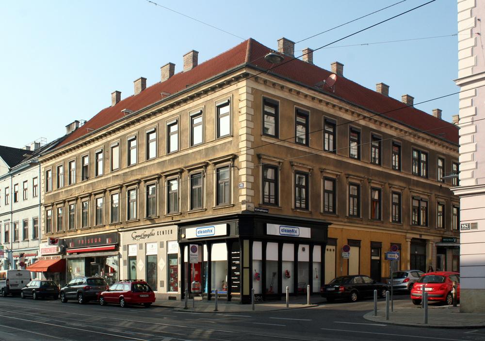 Eckhaus in der äußeren Mariahilfer Straße