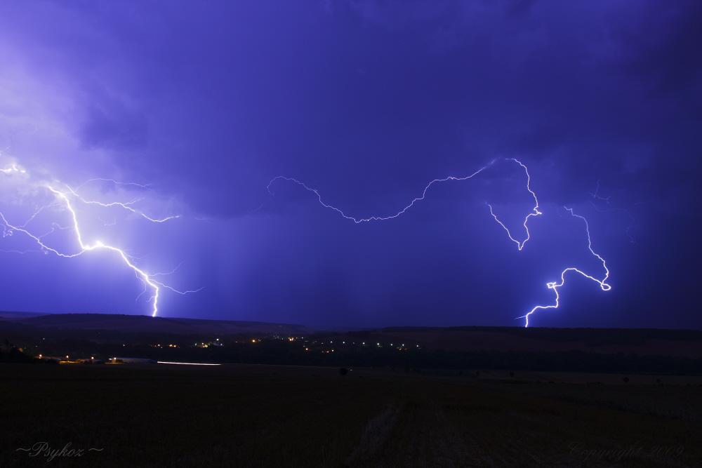 éclaire d'orage