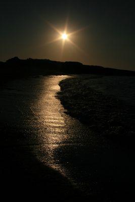 Eclat de lumière sur le bord de mer