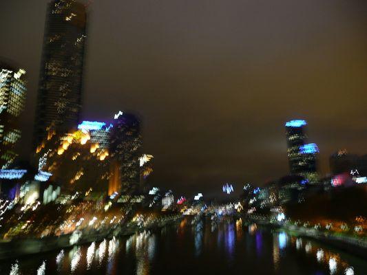 Eclats de lumières, Melbourne de nuit
