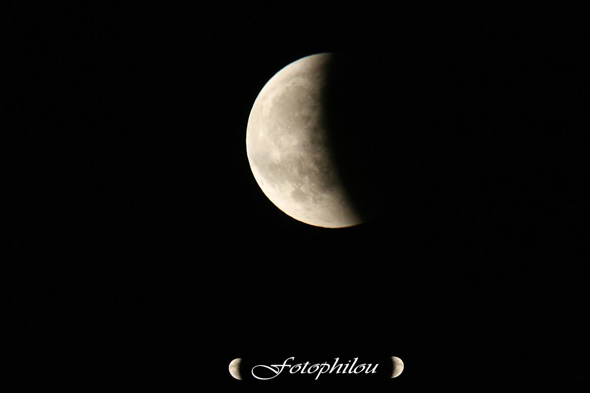 Eclipse de lune depuis le Bizet