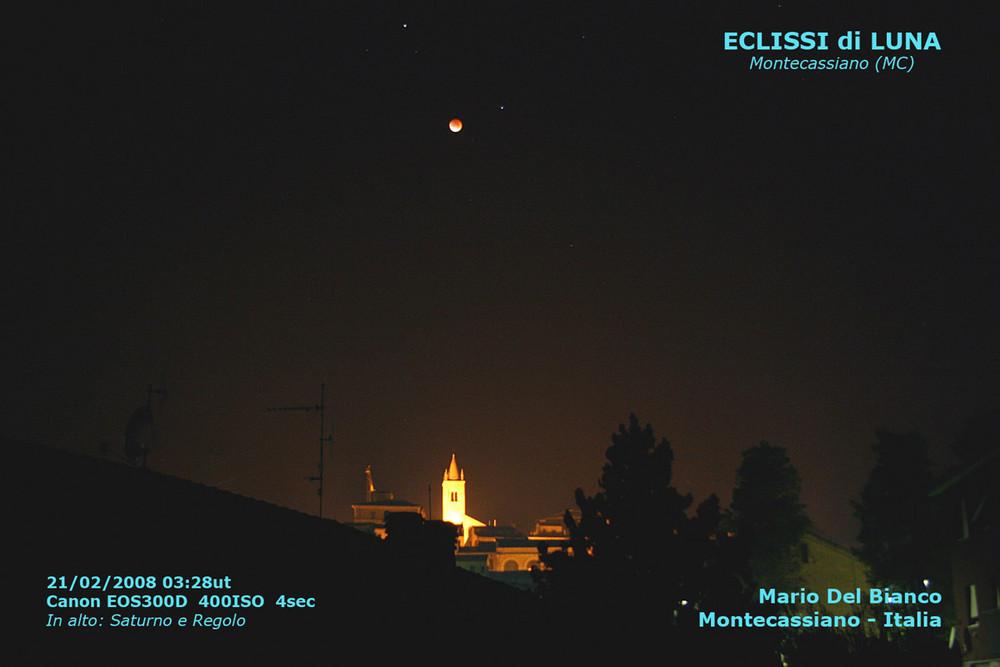 Eclissi di luna a Montecassiano
