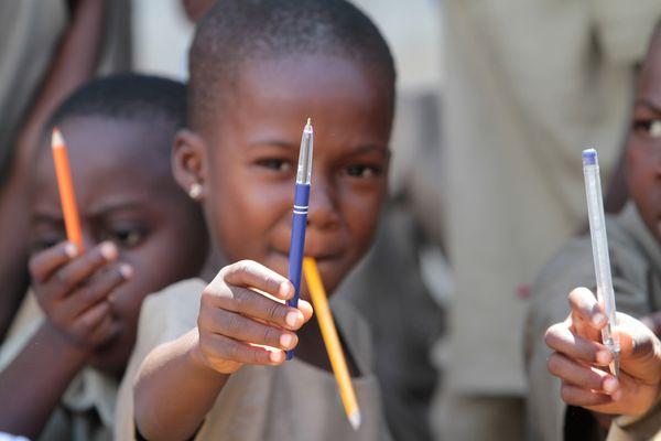 Ecoliers togolais dans une classe primaire de Lomé.