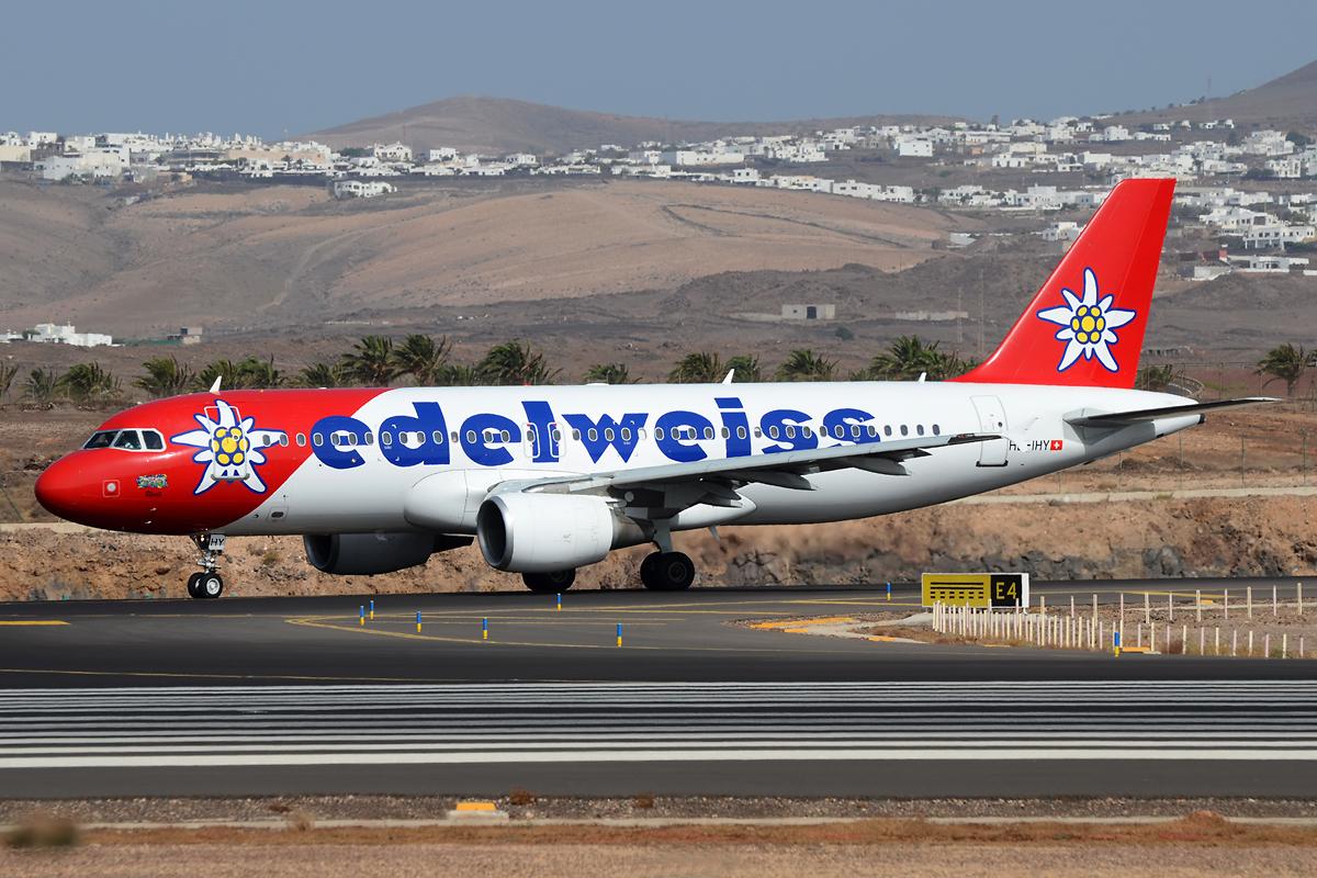 Edelweiss A320 auf Lanzarote