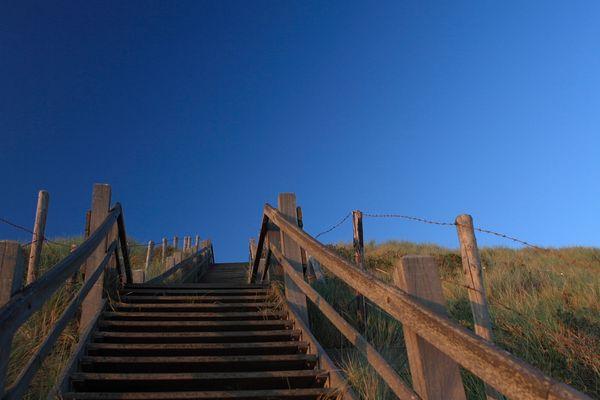 Een oud trap in Zoutelande