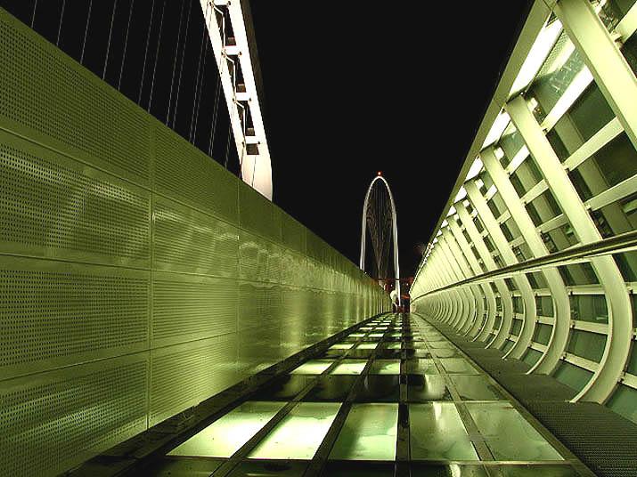 effetto notte tra le vele di Calatrava