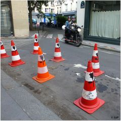 Egayer les plots routiers...