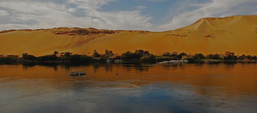 Egitto Assuan : tramonto