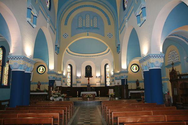 Eglise de Billy berclau (62) intèrieur...