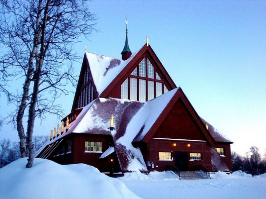 Eglise de Kiruna en Laponie, Suède.
