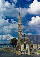 Eglise de Landevennec, Bretagne, Finistère, Rade de Brest