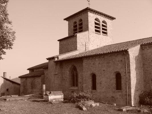 Eglise de saint haon le chatel (10eme siecle), village mediéval