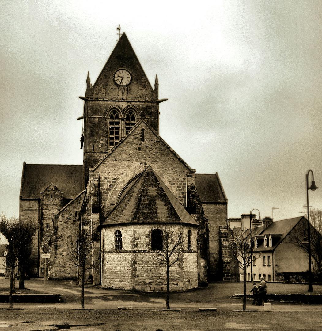 Eglise de sainte mère l'église en normandie