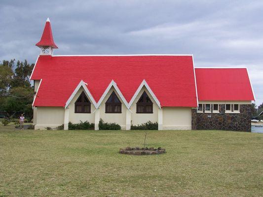 Eglise rouge à Cap malheureux (Maurice)