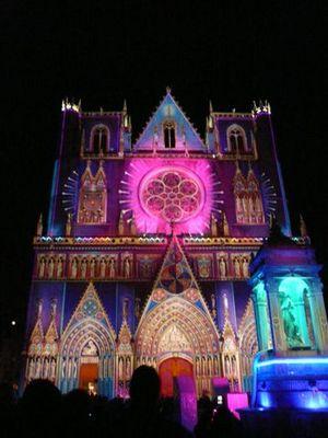 Eglise St Nizier pour la fête de lumières