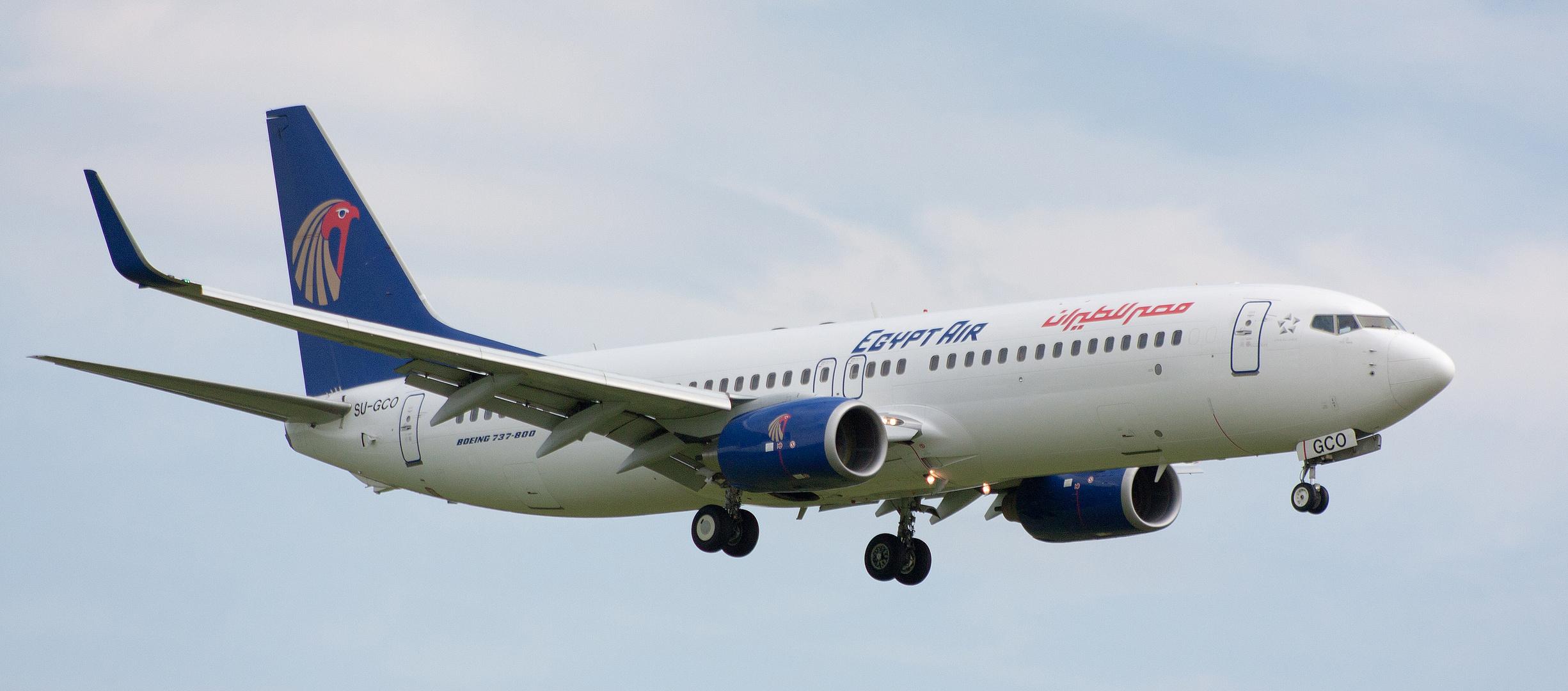 Egypt Air im Anflug auf DUS