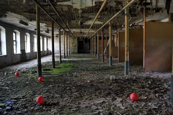 Ehemalige Textilfabrik in Sachsen