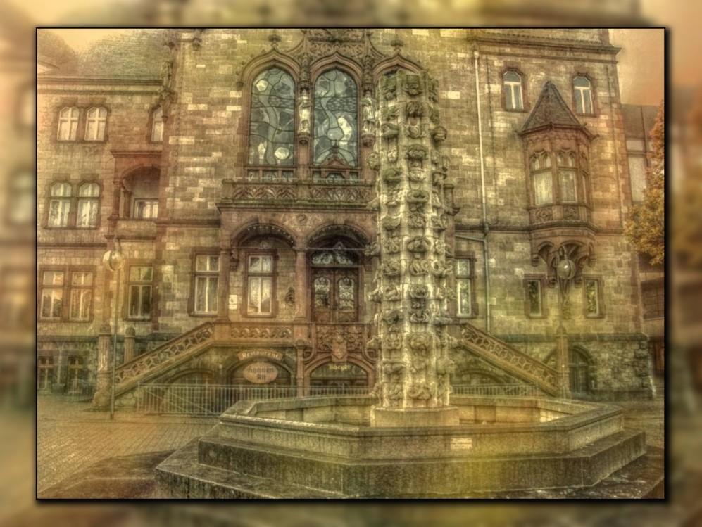 Ehemaliger Brunnen vor dem Rheydter Rathaus