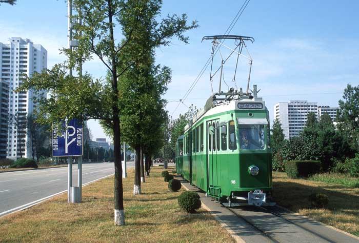 Ehemaliges Züri-Tram in Nordkorea