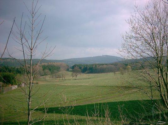 Eibenstock, Blick zum Auersberg
