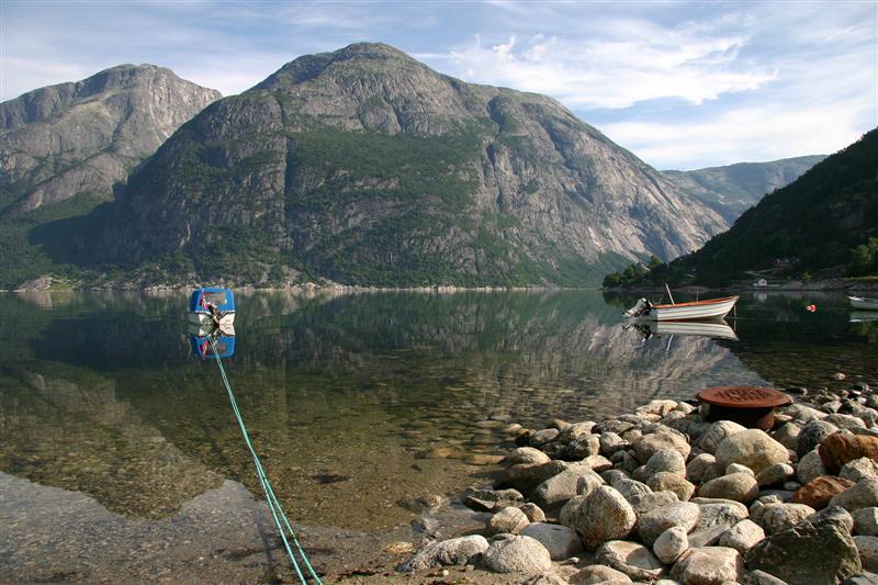 Eidfjord, im Sommer