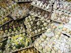 Eier in erdfarben