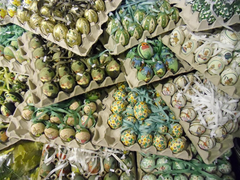 Eier in grün