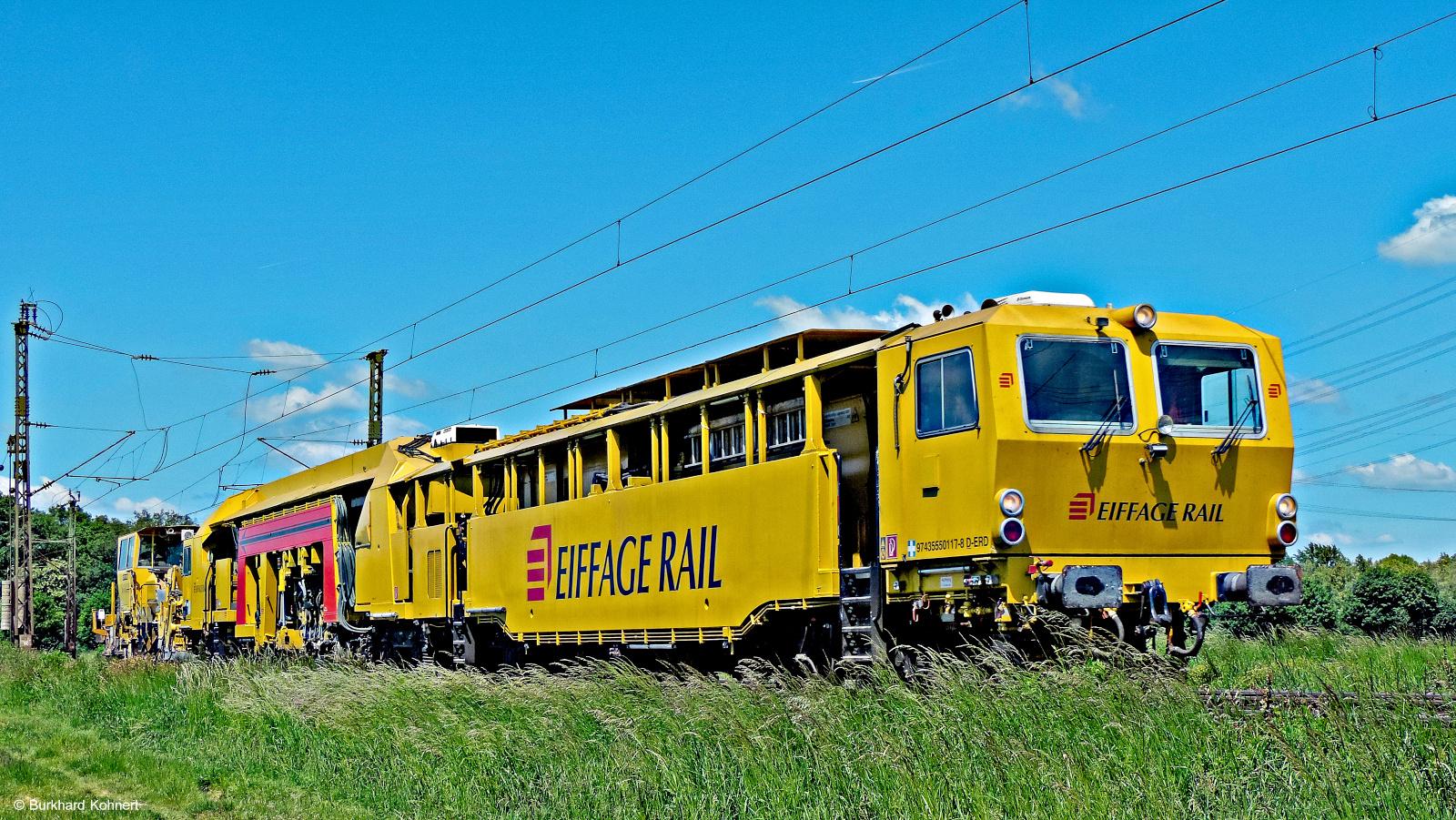 EIFFAGE RAIL Schienensonderfahrzeug - Mainz-Bischofsheim und Nauheim - 16.05.2014