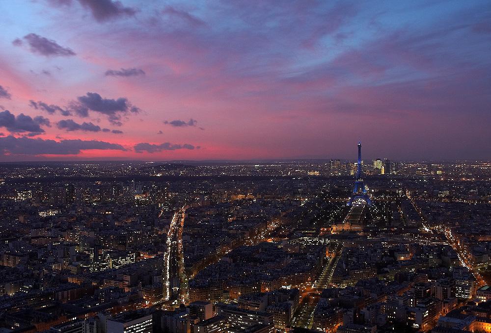 Eiffel en bleu
