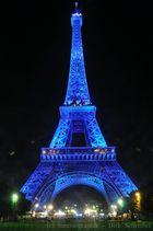 Eiffel tower in blue light