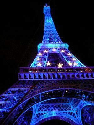 Eiffel Tower in Paris, France..