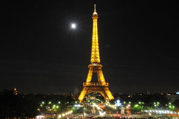 Eiffelturm bei Nacht - ohne Stativ!!