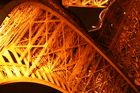 Eiffelturm Detail bei Nacht