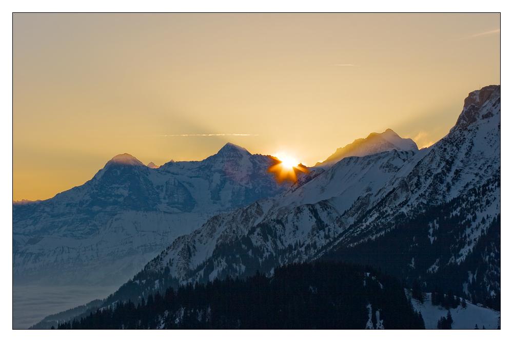 Eiger, Mönch, Sonne und Jungfrau