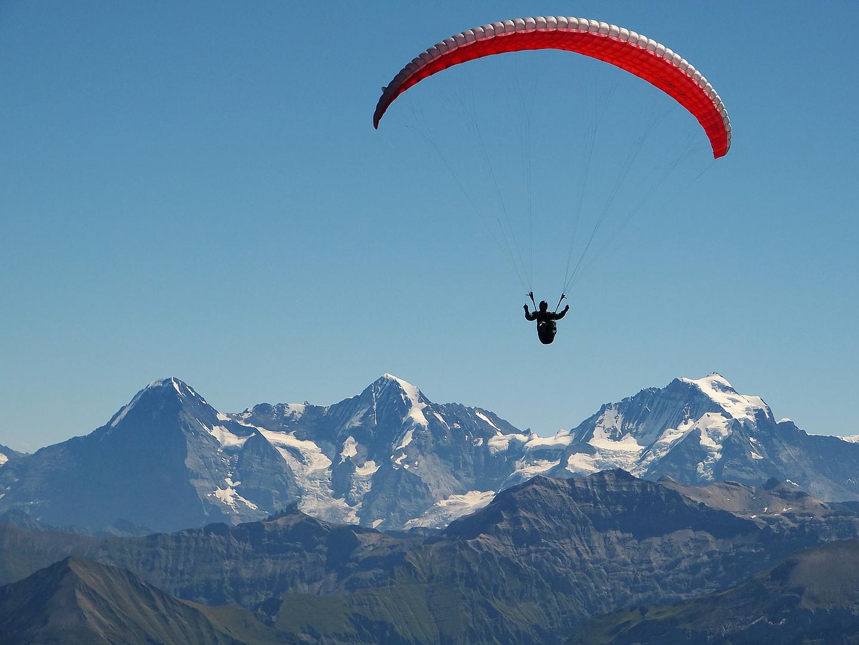Eiger, Mönch und Jungfrau im Berner Oberland (Schweiz)