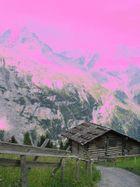 eigernordwand in pink
