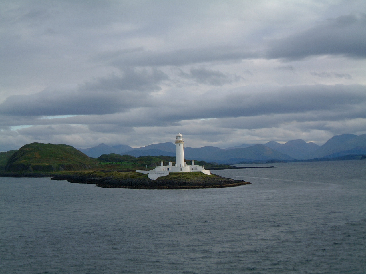Eilean Musdile Lighthouse on the way from Oban to Mull