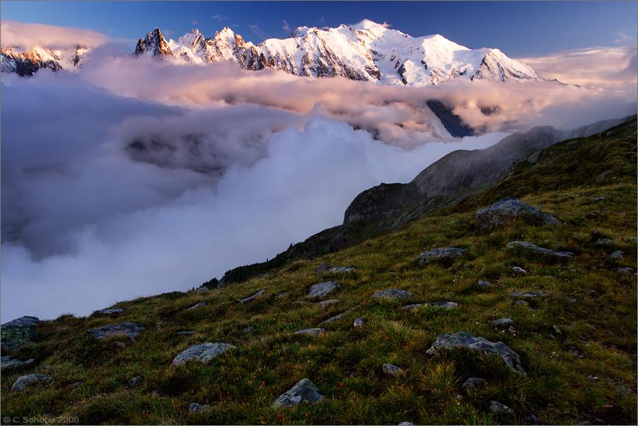Ein Abend am Mont Blanc
