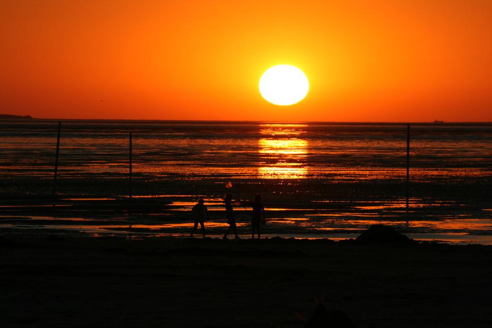 Ein Abend am Strand