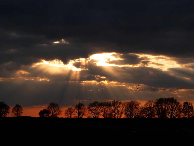 Ein abendlicher Gruß aus dem Himmel