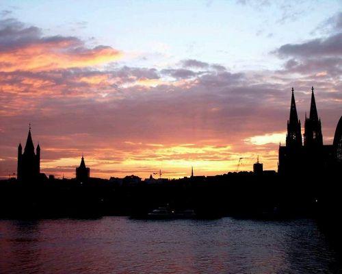 Ein Abendrot in Köln