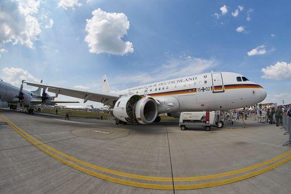 Ein Airbus A320 der Bundesregierung